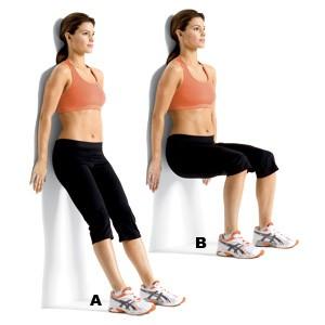 壁squat